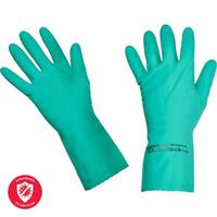 Перчатки латексные Vileda Professional Многоцелевые повышенная прочность зеленые (размер 8.5-9, L, артикул производителя 100757)