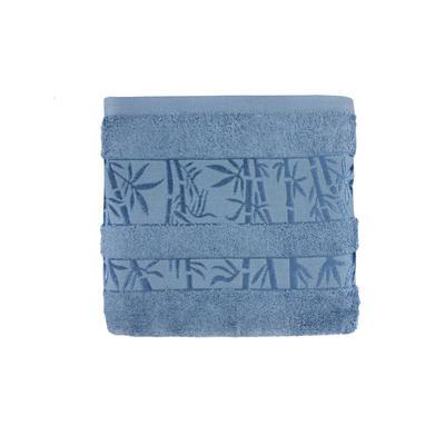 Полотенце махровое Бамбук премиум 70x130 см 430 г/кв.м синее