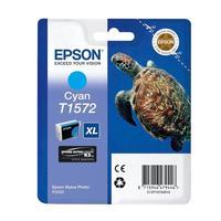 Картридж струйный Epson T1572 C13T15724010 голубой оригинальный