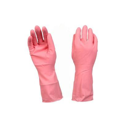 Перчатки латексные Scotch-Brite с хлопковым напылением розовые (размер 8, M)