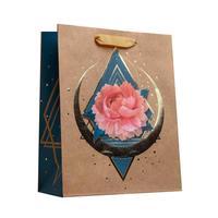 Пакет подарочный из крафт-бумаги Пион (23х18х10 см, 6 штук в упаковке)