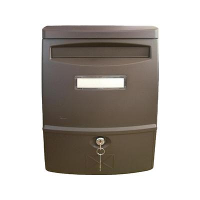 Ящик почтовый LTP-02 1-секционный пластиковый коричневый (272 x 113 x 383 мм)