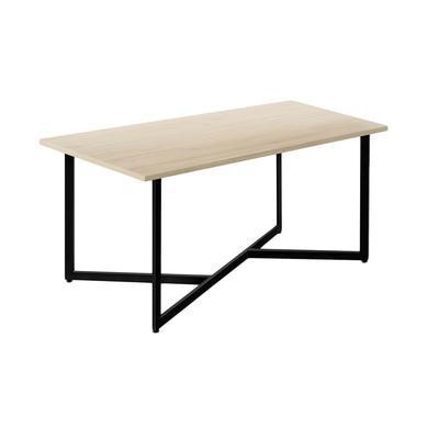 Стол обеденный Энги-1 (молочный дуб/черный, 1550х900х760 мм)