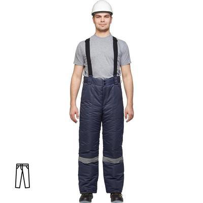 Брюки рабочие зимние мужские з28-БР с СОП синие (размер 60-62, рост 170-176)