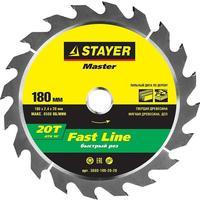 Диск пильный по дереву Stayer Fast Line 180х20 мм 20Т (3680-180-20-20)