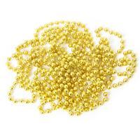 Бусы новогодние 500x0.75 см золотистые