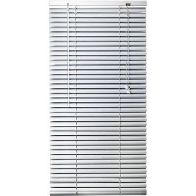 Жалюзи горизонтальные алюминиевые серебристые (1400x1600 мм)
