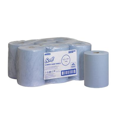 Полотенца бумажные в рулонах Kimberly Clark Scott Slimroll 1-слойные 6 рулонов по 165 метров (артикул производителя 6658)