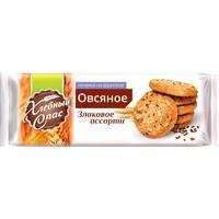 Печенье овсяное Хлебный спас Злаковое ассорти на фруктозе 250 г