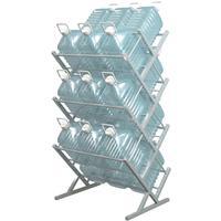 Стеллаж для бутилированной воды Стилс-21 на 21 тару по 5/6л серый металлик