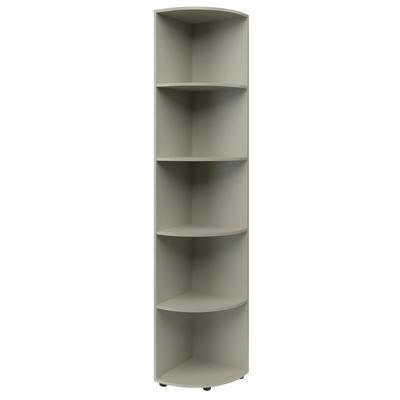 Шкаф угловой (серый, 400x400x1950 мм)