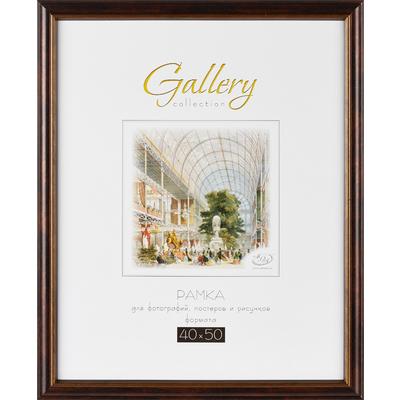 Рамка Gallery 40x50 см пластиковый багет 28 мм черная