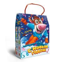 Новогодний сладкий подарок Добрыня в картонной коробке 800 г (с пазлом)
