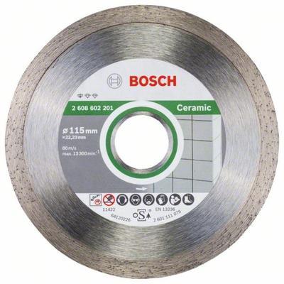 Диск Bosch алмазный по керамике 115х22.23 мм (2608602201)