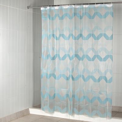 Штора для ванной Aquarius PevaHavana180х200 см ПЕВА (цветголубой)