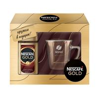 Кофе Nesсafe Gold растворимый+брендированная кружка 95 г (промоупаковка)
