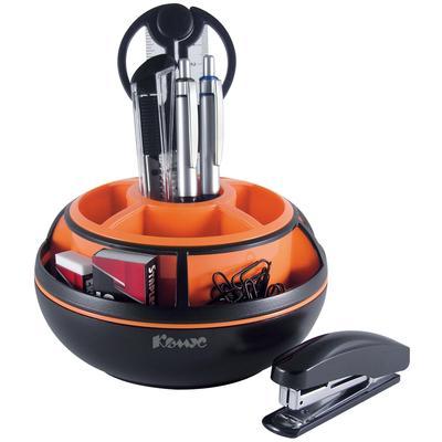 Набор настольный Комус 10 предметов черный/оранжевый