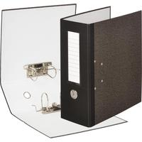 Папка-регистратор с двумя арочными механизмами Attache 125 мм мрамор  черная