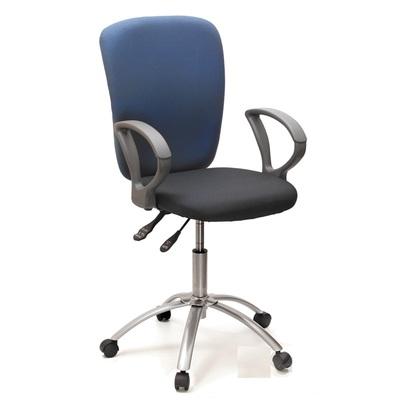 Кресло офисное Chairman 9801 синее/серое (ткань, металл)