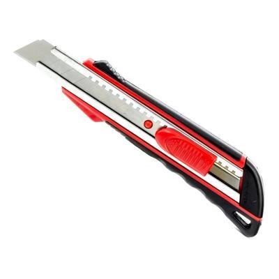 Нож универсальный Matrix с фиксатором и металлическими направляющими с двухкомпонентной рукояткой (ширина лезвия 18 мм)