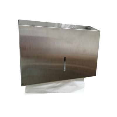 Диспенсер для листовых полотенец ручной металлический черный (0902)
