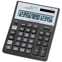 Калькулятор настольный ПОЛНОРАЗМЕРНЫЙ Citizen SDC-435 N 16-разрядный черный