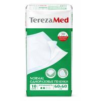 Пеленки впитывающие TEREZA MED 60х60 см NORMAL (10 штук в упаковке)
