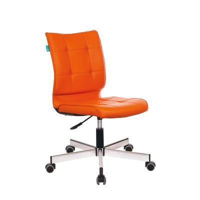 Кресло офисное Бюрократ CH-330M оранжевое (искусственная кожа/металл)