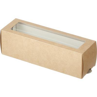 Бумажный контейнер DoEco МВ 6 для макарони коричневый (180х55х55 мм, 50 штук в упаковке)
