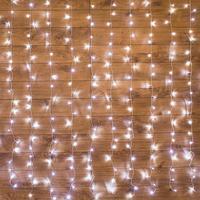 Гирлянда светодиодная Neon-Night Занавес бахрома нейтральный белый свет 300 светодиодов (2.5x2 м)