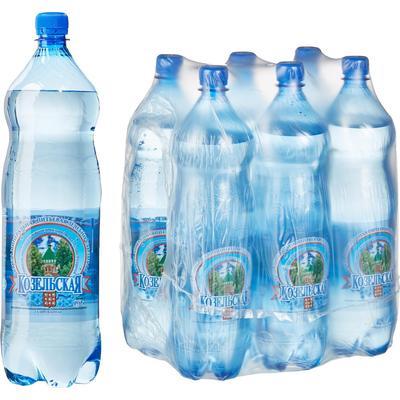 Вода минеральная Козельская газированная 1.5 л (6 штук в упаковке)