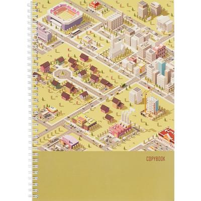 Тетрадь общая Канц-Эксмо Проект города А4 96 листов в клетку на спирали