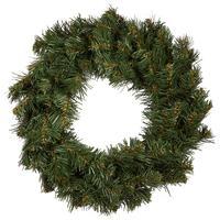 Венок хвойный Рождественский Звездный 40 см зеленый