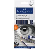 Набор карандашей чернографитных Faber-Castell Goldfaber 6 штук 2H-6B