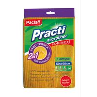 Тряпка для пола Paclan Practi микрофибра 50х60 см желтая