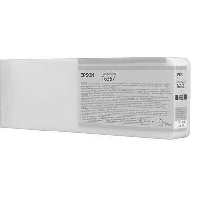 Картридж струйный Epson T6367 C13T636700 серый повышенной емкости оригинальный