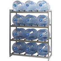 Стеллаж для бутилированной воды Бомис-12Р на 12 тар по 19л металлик