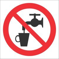 Знак безопасности Запрещено использование в качестве питьевой воды Р05 (200x200 мм, пластик)