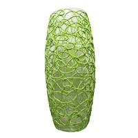 Ваза Бочка стекло прозрачная/зеленая высота изделия 26 см