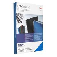 Обложки для переплета пластиковые GBC А4 300 мкм синие с тиснением (100 штук в упаковке)