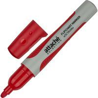 Маркер для бумаги для флипчартов Attache Selection Octavia красный (толщина линии 2-3 мм) круглый наконечник