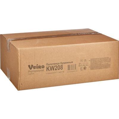 Полотенца бумажные листовые Veiro Professional F2 Comfort W-сложения 2- слойные 21 пачка по 150 листов (артикул производителя KW208)