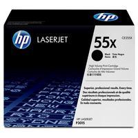Картридж лазерный HP 55X CE255X черный оригинальный повышенной емкости