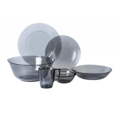 Набор столовой посуды Attribute Директор Графит стекло 31 предмет (артикул производителя N5771)