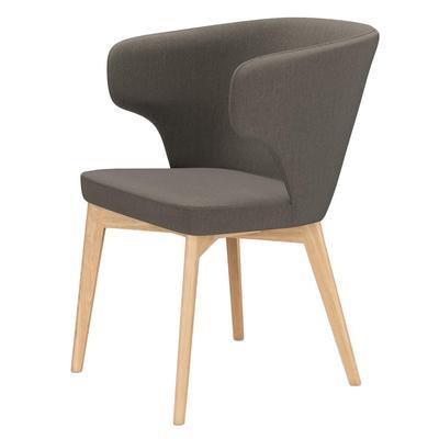 Кресло Marco серо-коричневое (шенилл/металл)