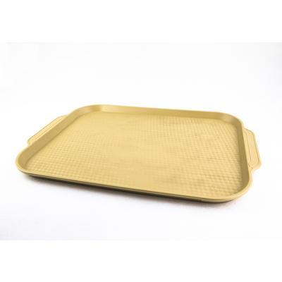 Поднос прямоугольный пластиковый Uniplast Классик 50x36 см (7602011) бежевый