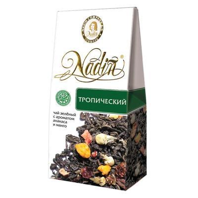 Чай подарочный Nadin Тропический зеленый  фруктово-ягодный 50 г