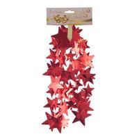 Бусы новогодние Звезды 180x5.60 см красные