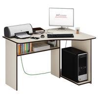 Стол компьютерный угловой Триан-1 правый (дуб молочный, 1200x750x900 мм)