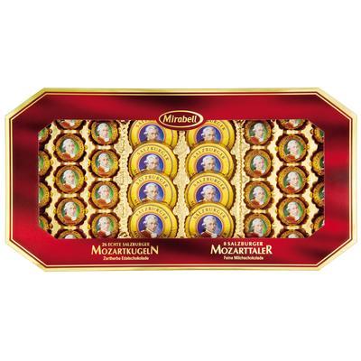 Шоколадные конфеты Mirabell Mozart молочный шоколад с пралине и марципаном 600 г